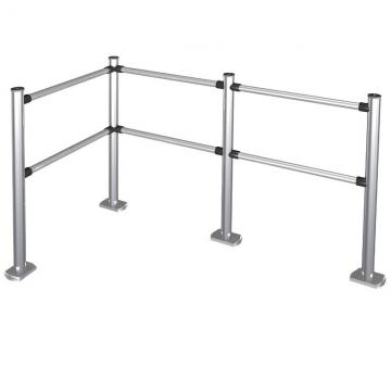 Stainless steel delimiter for shops