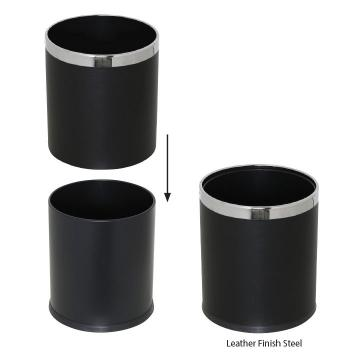 Double Wall Stainless Steel Waste Basket
