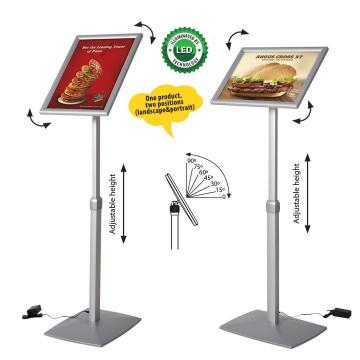 Display prezentare meniu, felxibil, rama cu LED