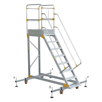 Mobile Work Platform With Stabilizer