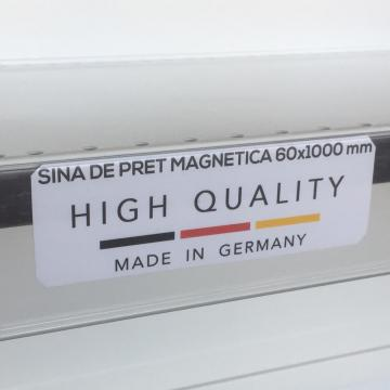 Transparent price reglet with magnet 60/1000 mm
