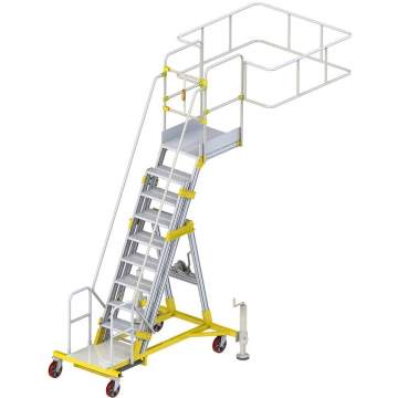 Height-adjustable and free-standing tanker ladder
