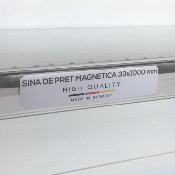 Transparent price reglet with magnet 39/1000 mm