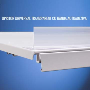 Universal shelf holder with self-adhesive tape